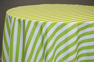 Green tablecloths