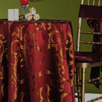 custom tablecloths in Chopin damask