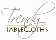 We Make Tablecloths any Size and Shape! Logo