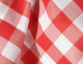 red check tablecloths
